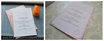diy wedding invitation menu