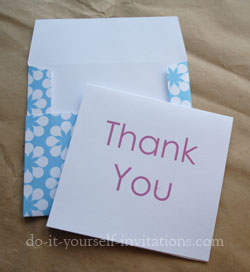 printable thank you cards and envelopes