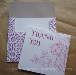 free printable rose thank you cards and envelopes