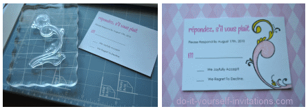 make rsvp cards templates