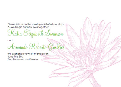 free printable wedding invitation templates waterlily