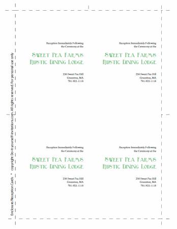 wedding invitation enclosure cards template