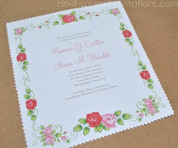bridal shower handkerchief invitations