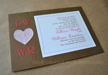 valentines day wedding invitations