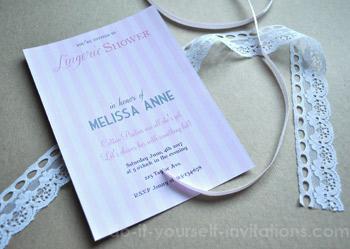 lingerie shower invitation template