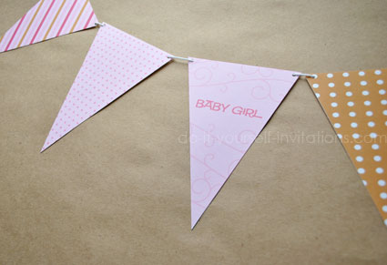 printable baby shower bunting banners