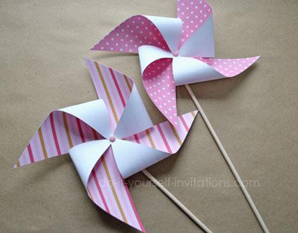 printable pinwheels party decorations