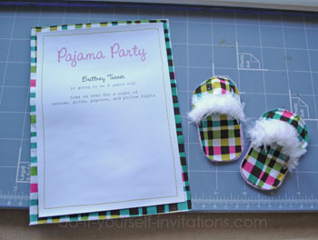 DIY Pajama Party Invitations: Unique And Crafty Slipper ...