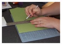 cutting scrapbook paper for wedding invitations