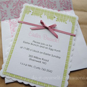 homemade easter invitations