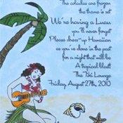 DIY Luau invitations