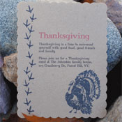DIY Thanksgiving Turkey Invitations