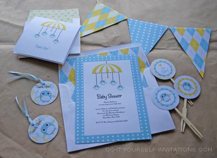 printable baby shower invitations kits