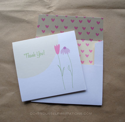 printable thank you card and envelope