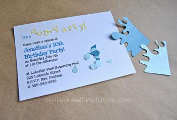 Diy Pool Party Invitations