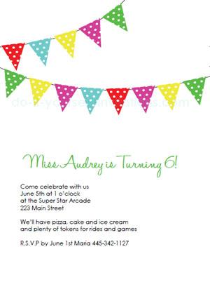 free printable birthday party invitations