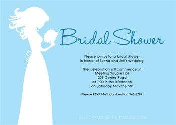 printable bridal shower invitations blue