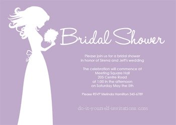 printable bridal shower invitations purple