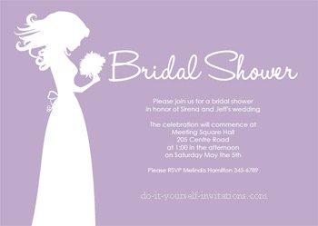 printable bridal shower invitations purple