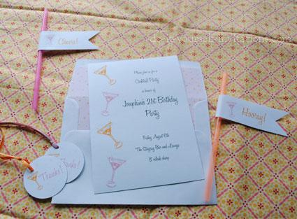 printable cocktail invitations kits