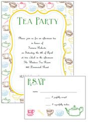 Marvelous Free Printable Tea Party Invitations