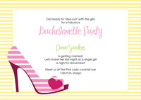 printable high heel stiletto party invitations