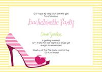printable high heel stiletto party invitations