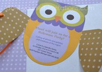 printable owl invitation templates