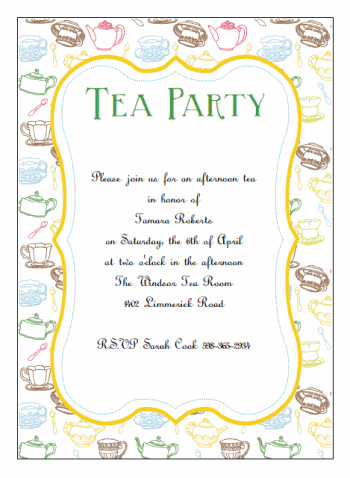 printable tea party invitations