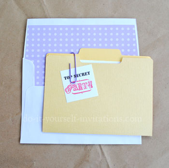 make diy surprise party invitations