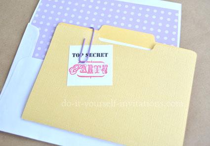 make diy surprise party invitations
