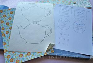 Diy tea party invitations cute and crafty tea pots diy tea pot tea party invitations filmwisefo