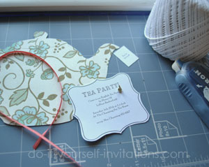 make tea party invitations