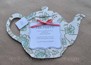 DIY Tea Party Invitations Cute And Crafty Pots