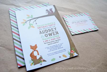 woodland invitations templates